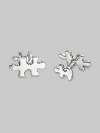 Pieces to the puzzle of life, in sterling silver, large in front, smaller on the t-back. Front length, about 1 Made in USA