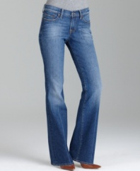 The Leslie Sweet N Low boot cut from Lucky Brand Jeans is super-flattering, with a vintage-inspired look that you'll love.  A must-have color and shape for any closet.