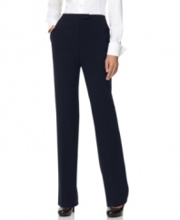 The essential work dress pant is crafted in a sleek silhouette with classic tailoring, by Jones New York.