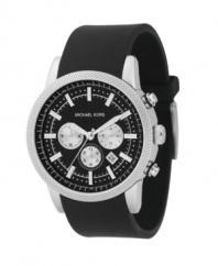 Catch attention with this sporty Michael Kors watch.