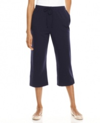 These easy pull-on capri pants are springtime staples, from Karen Scott. Low in price and high in comfort, these will be your casual day favorites!