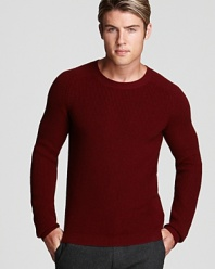 Warm and cozy with a comfortable fit, this handsome sweater sets the tone for your modern sweater wardrobe.