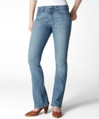It doesn't get more classic than a faded blue pair of 515 bootcuts from Levi's! The ultimate weekend jeans.